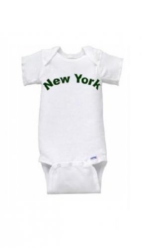 New York Short Sleeve Onesie