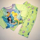 DISNEY FAIRIES Girl&#39;s Size 4 TINKERBELL Pajama Set, NEW
