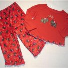 FADED GLORY Girl's 3T SCOTTIE Holiday Pajama Set, NEW