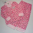 ST. EVE Girl's XS 4/5 Flannel Pink Kitty Pajama Set NEW