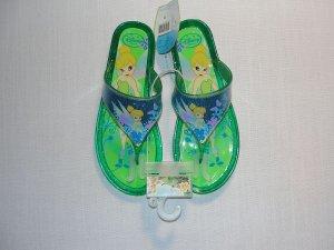DISNEY Girl's Size 3 TINKERBELL Glitter Sandals, NEW