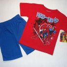 SPIDERMAN Boy's 2T Shorts, T-shirt Set, Outfit, NEW