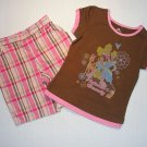 DISNEY PRINCESS Girl&#39;s Size 5 Shorts Outfit, NEW