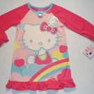 HELLO KITTY Girl's Size 4 (S) M Pink Nightgown, NEW