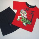 DISNEY TOY STORY Boy's 3T BUZZ LIGHTYEAR Shorts Outfit