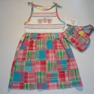 B.T. KIDS Girl's 6X Summer Patchwork Sundress Set NEW