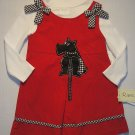 RARE, TOO! Girl&#39;s Sz 6 Red Scottish Terrier Dress Set