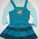 RARE TOO! Girl's Size 4 Teal Pony Horse Dress Set, NEW