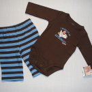 CARTER'S Boy's 3 Months Astronaut Shirt Pants Set, NEW