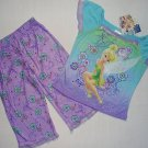 DISNEY FAIRIES Girl's Sz 4 TINKERBELL Capri Pajama Set