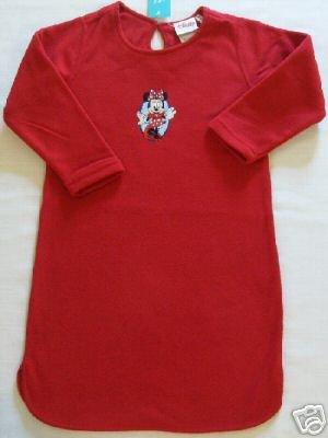 DISNEY MINNIE MOUSE Size 3/4 Fleece Nightgown, NEW