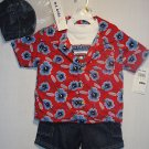 B.T. KIDS Boy's 4T 4-Piece Denim Shorts Set w/ Hat, NEW