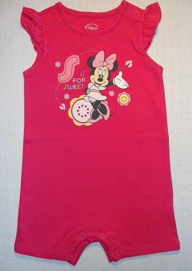 MINNIE MOUSE Girl's 12 Months Pink Summer One-Piece NEW