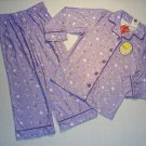 TINKERBELL Girl's Sz 2/3 Purple Fleece Coat Pajama Set