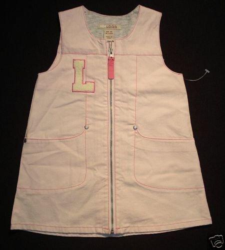 H&M L.O.G.G. Girl's 9-12 Months Pink Lined Jumper Dress NWOT