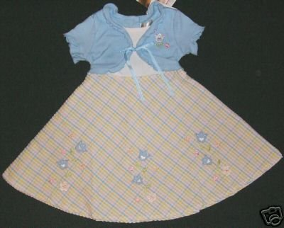 YOUNGLAND Girls Size 6 Blue Tulip Dress, NEW