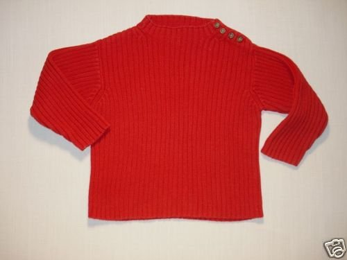 BABY GAP Girl's Size 3 XL Red Ribbed Sweater