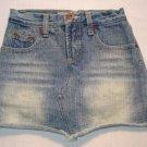 Z. CAVARICCI Girls Size 7 Denim Distressed Skirt Skort