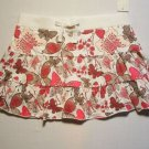 GREENDOG Girl's Size XL Floral Skirt Skort, NEW
