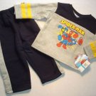 SPIDERMAN Boy's 24 Months Sweat Pants Shirt Outfit NEW