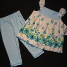 JENNY & ME Girl's Size 4 Floral Tunic, Pants Set, NEW