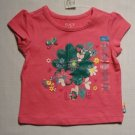 CHILDREN'S PLACE Girl's 6-9 Months Floral Pink T-Shirt, NEW