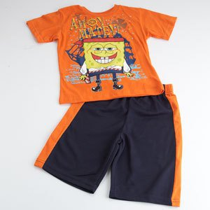 NICKELODEON SPONGEBOB Boys Size 6 Shorts Outfit, NEW