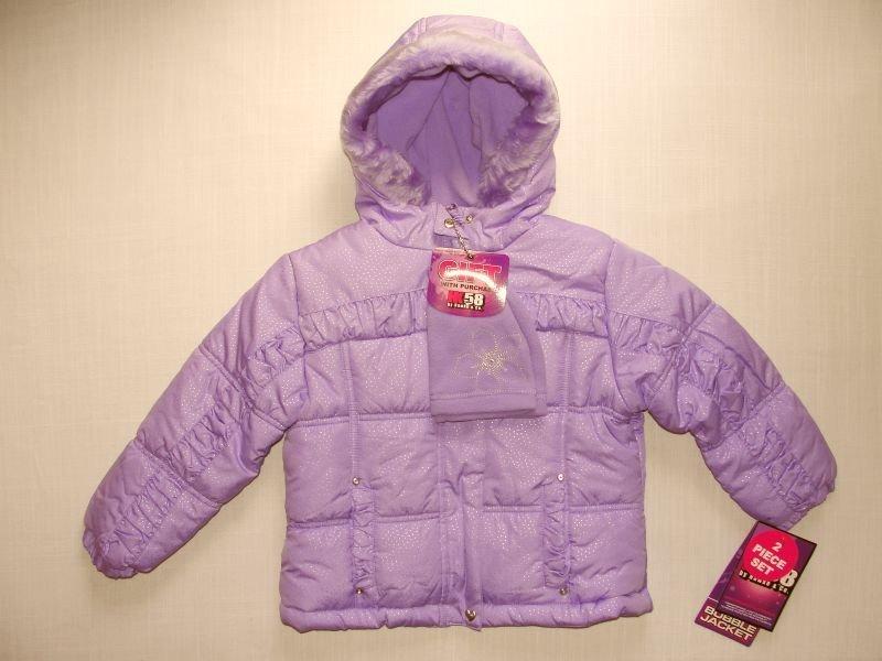 HK58 by HAWKE & CO Girls 3T Bubble Jacket, Purple, NEW