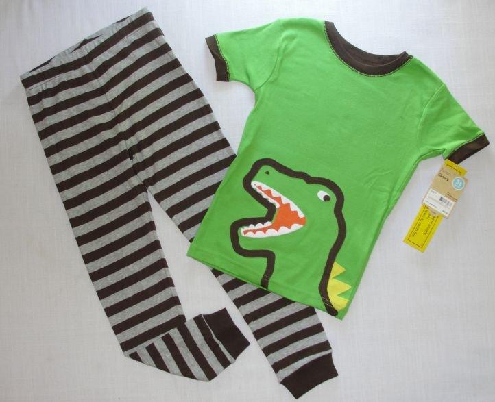 CARTER'S Boy's 3T Dinosaur Pajama Pants Set, NEW
