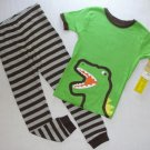 CARTER'S Boy's 3T Dinosaur Pajama Pants Set, NEW