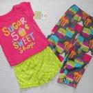 CARTER'S Girl's 18 Months CUPCAKE 3-Piece Pajama Set, NEW