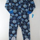 JUMPING BEANS Boy's Size 4 Blue Sports Fleece Pajama Sleeper, NEW