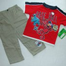 SESAME STREET 24 Months Elmo Baseball Pants Outfit, NEW