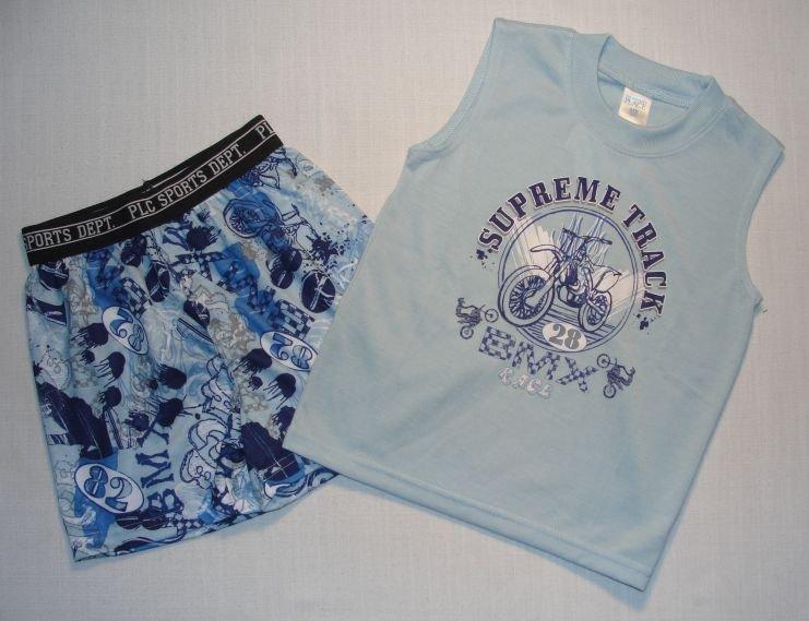 CHILDREN'S PLACE Boy's Size 2/3 BMX Pajama Shorts Set