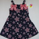JESSICA ANN Girl's Size 4 Stars Patriotic Sundress NEW