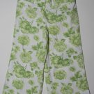 CHEROKEE Girl's XS 4/5 White Floral Cropped Pants
