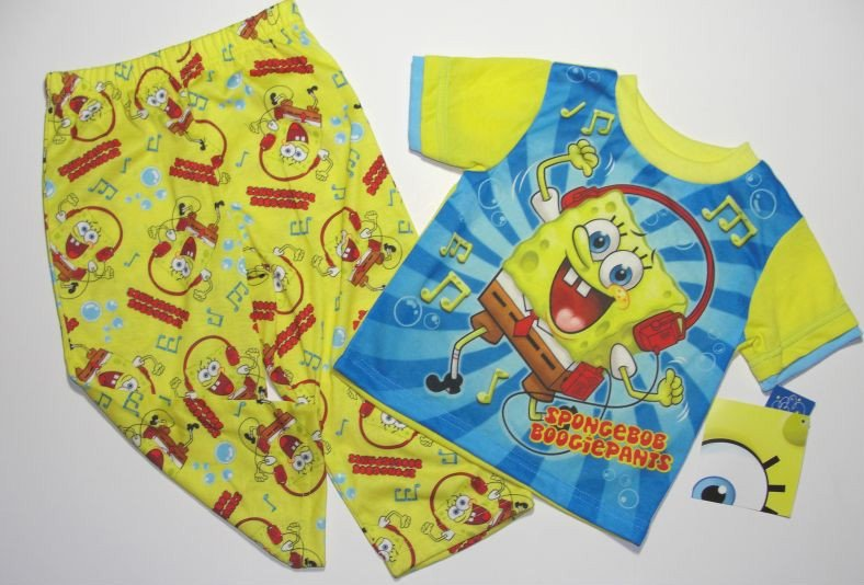 NICKELODEON Boy's 3T SPONGEBOB Pajama Pants Set, NEW