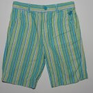 ARIZONA JEANS Girl's Size 5 Striped Teal Capri Pants