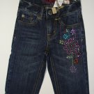 CHILDREN'S PLACE Girl's Size 4 Floral Denim Capri Pants