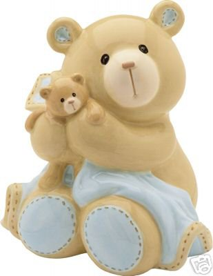 Gund Boy's Bear Tales Collection Ceramic Bank