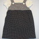 GREENDOG Girl's 24 Months Black, Ivory Dress Set, NEW