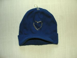 THE CHILDREN'S PLACE Girl's Size 4-6 Royal Blue Knit Brim Hat, NEW