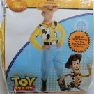 DISNEY Boy's Size 7-8 TOY STORY WOODY COSTUME with TREAT BAG by DISGUISE, NEW
