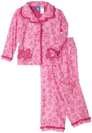 DR. SEUSS Girl's 3T Pink Fish Coat Pajama Pants Set, NEW