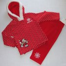 DISNEY Girl's 12 Months Minnie Mouse Winter Themed Outfit, NEW