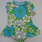 CARTER'S Girl's 9 Months Teal Floral Summer Dress Set, NEW