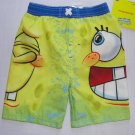 NICKELODEON SPONGEBOB Boy's 4T Swim Shorts, Trunks, NEW