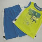 NICKELODEON Boy's Size 7X SPONGEBOB Mesh Tanks and Shorts Outfit, Set, NEW