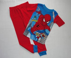 SPIDERMAN Boy's Size 8 Pajama Pants Set, NEW