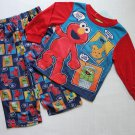 SESAME STREET Boys 3T ELMO, COOKIE MONSTER, OSCAR Pajama Set, NEW